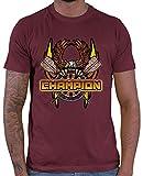 Hariz - Camiseta para hombre, diseño de águila, diana y diana Rojo vino. M