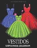 Vestidos Libro Para Colorear: Hermosos Diseños de Moda - Idea de regalo de Navidad para Adultos