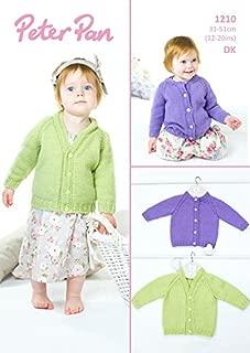 Peter Pan Baby Cardigans Knitting Pattern 1210 DK