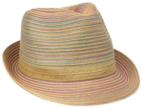 San Diego Hat Company Women's Mixed Braid Large Brim Floppy Rust, Rust, One Size