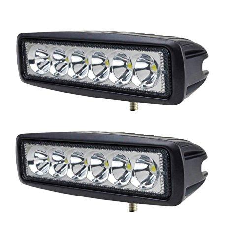2 X 18W Led riflettori del LED FARO LAMPADA SUPPLEMENTARE PROFONDITA\' PER AUTO FUORISTRADA 12V 6 LED 18W