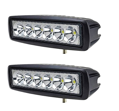 2 X 18W Led riflettori del LED FARO LAMPADA SUPPLEMENTARE PROFONDITA\' PER AUTO FUORISTRADA 12V 6 LED 18W