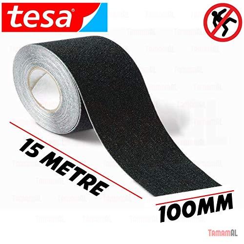 Tesa Tape. S.A. - Cinta antideslizante negra 15m x 100mm