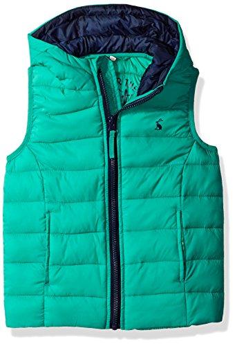 Joules Jungen Boys' Milo Hooded Packaway Gilet Regenmantel, grasgrün, 1