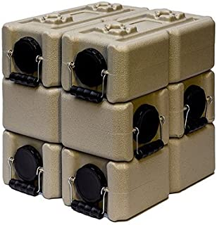 WaterBrick Tan Water Storage Container (6 pack) 3.5 Gallon BPA Free Portable and Stackable