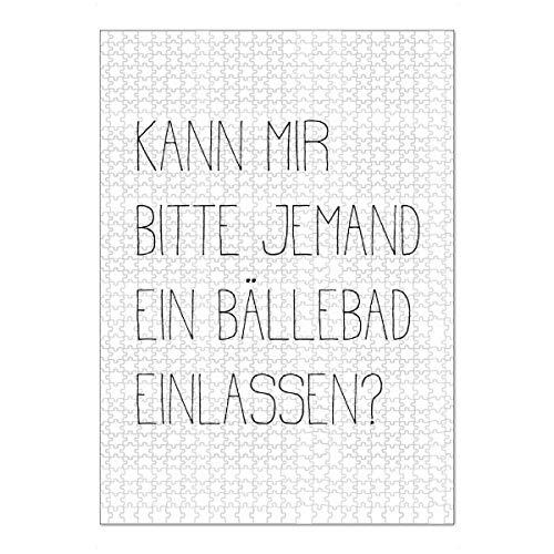 artboxONE Ravensburger-Puzzle XL (1000 Teile) Typografie BÄLLEBAD - Puzzle lustige sprüche sprüche Badezimmer