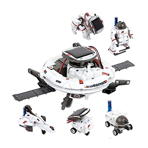 Hedear STEM Toys 6 In 1 Space Solar Robot Set, Educational Science Building Toy DIY Educational Science Set Gift