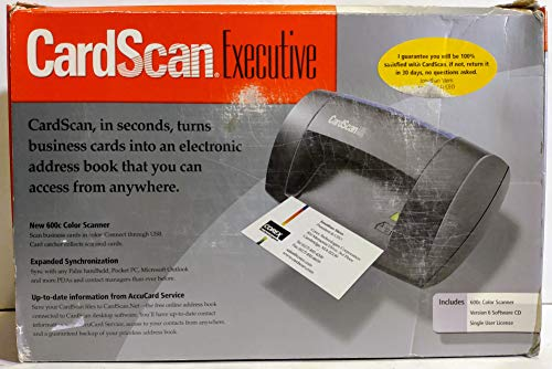 Corex CardScan Executive 600c Color Business Card Scanner
