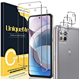 [ 2+3 Pack ] UniqueMe Compatible with Motorola One 5G Ace Tempered Glass + Camera Lens Protector Screen Protector [Easy Installation][HD Clear][9H Hardness]【Not for Moto G 5G/One 5G/One 5G UW】.
