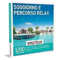 Idea Regalo - smartbox - Cofanetto Regalo - Soggiorno e Percorso Relax - Idee Regalo - 1 Notte con Colazione e 1 Percorso Benessere per 2 Persone