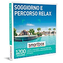 Idea Regalo - Smartbox - Soggiorno e Percorso Relax - Cofanetto Regalo Coppia , 1 Notte con Colazione e 1 percorso Benessere per 2 Persone, Idee Regalo Originale
