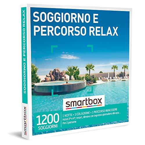 Smartbox - Soggiorno e Percorso Relax - Cofanetto Regalo Coppia , 1 Notte con Colazione e 1 percorso Benessere per 2 Persone, Idee Regalo Originale
