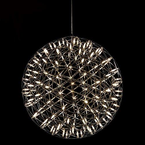 Pendelleuchte LED Metall Hängeleuchte Kugel Höhenverstellbar Wohnzimmer Restaurant Warmweiß (Mittlere)