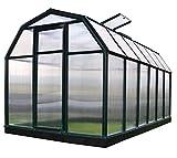 RION Gewächshaus Gartenhaus Kunststoff SMART 36//387x204x198 cm (LxBxH)//Treibhaus & Tomatenhaus zur Aufzucht + Fundament
