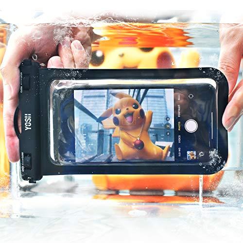 YOSH防水ケーススマホ用最大7インチ対応Iphone12mini12シリーズAndroid携帯に対応IPX8お風呂用水中撮影タッチ可顔認証風呂水泳釣り海プール旅行雨