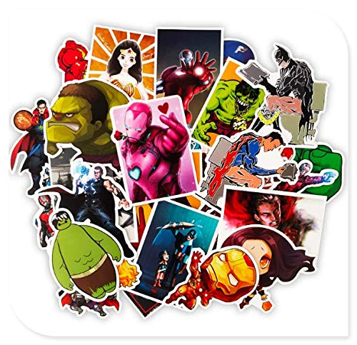 Marvel Superhero Suitcase Sticker Guitar Sticker 50Pcs