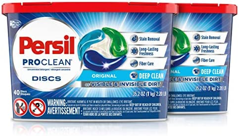 Persil Discs Laundry Detergent Pacs, Stain Fighter, 15 Count