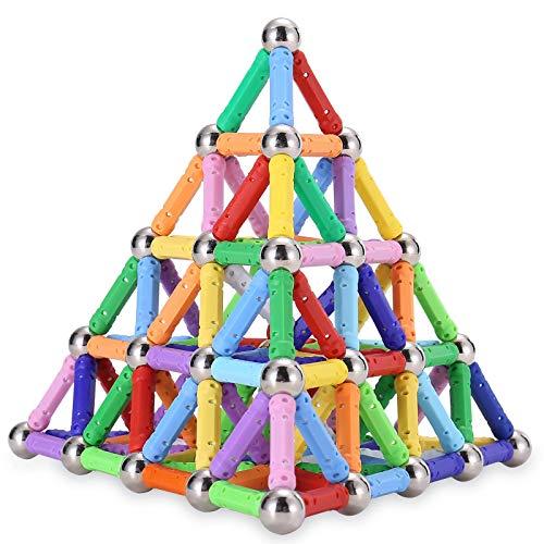 iMelitoy Magnetic Sticks Balls Building Blocks 150 PCS, Magnetic Fidget Toy Sets, Magnet Educational...