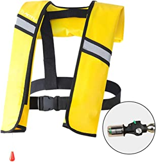Goofly Inflatable Life Jacket Adult Life Vest Water Sports Swimming Fishing Survival Jacket