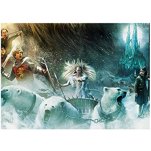 HYLLVC 1000 Puzzles für Erwachsene The Chronicles of Narnia: Lion, Witch and Wardrobe 1000 Stück Puzzle The Film Familienspaßspiele, Entspannungs- und Meditationshobbys (52x38cm)