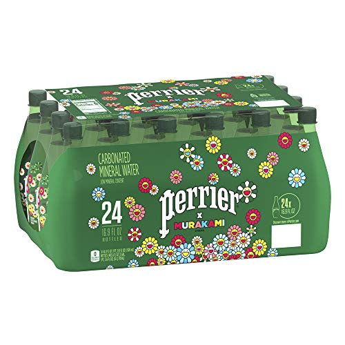 Perrier, Perrier, agua mineral natural con gas. 1 caja con 24 botellas PET de 500 ml, 500 mililitros