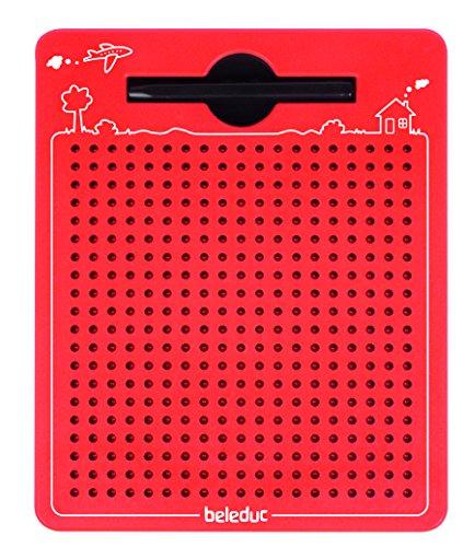Beleduc 21091 - Das magische Magnetspiel, magnetische Zeichentafel, zum Mitnehmen, rot, klein (175x215mm)