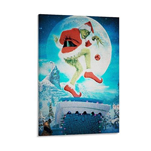 NISHUO Descargar Imagenes Del Grinch Poster dekorative Malerei Leinwand Wandkunst Wohnzimmer Poster Schlafzimmer Malerei 12x18inch(30x45cm)