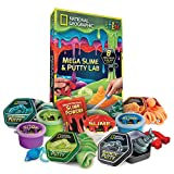 NATIONAL GEOGRAPHIC Mega Slime Kit & Putty Lab - 4 Types of Amazing Slime For Girls & Boys Plus 4 Types of...