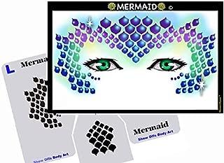 Face Painting Stencil - StencilEyes Mermaid
