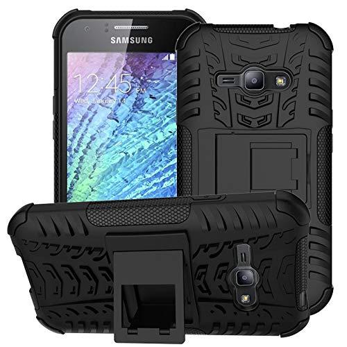 RZL Teléfono móvil Fundas para Samsung Galaxy Ace J1 J110, Funda de Silicona + PC Phone Cubierta del Bolso para Samsung J5 J3 J1 Mini Prime 2016 J310 (Color : Red, Material : For Galaxy J3)