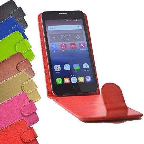 Flip 2 in 1 set Tasche für Hisense Sero 5 Slide Kleber Hülle Case Cover Schutz Bumper Etui Handyhülle in Rot