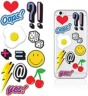 iDecoz Oops Reusable Vinyl Decal Sticker Skin For ALL Cell Phones and Cases, iPhone 7/7 Plus/6/6 Plus/6S/6S Plus/SE/5S/5C/5, etc.