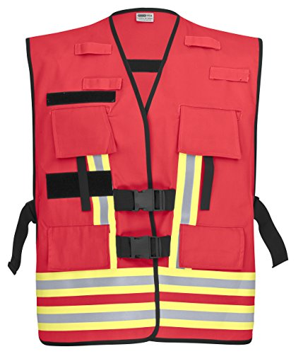 PACOTEX Funktionswesten zur Kennzeichnung von Einsatzpersonal wie z.B. Feuerwehr Warnweste (rot)