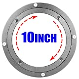 10 Inch Lazy Susan Turntable, A+Selected Heavy Duty Aluminium Lazy Susan Hardware, Sliver Rotating Turntable Bearing Table Base, Round Swivel Plate for Glass, Granite or Wood Kitchen Ding Table