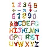 NUOBESTY 41 unidades de letras magnéticas A-Z, números para nevera, alfabeto, imanes magnéticos, letras magnéticas, pegatinas para nevera, juego educativo para niños y bebés