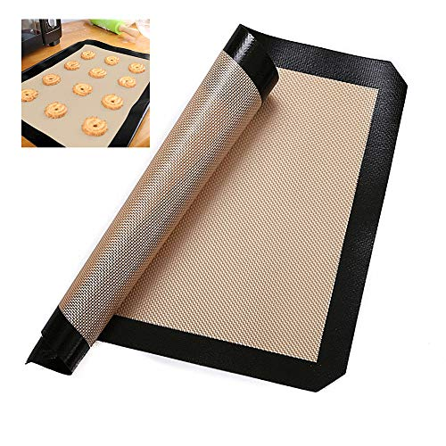 XD E-commerce Tappetino Forno Tappetino microforato per Forno Non Stick Baking Sheet Oven Liners for Bottom of Oven Baking Mat Silicone Mat Silicon Baking Sheets Black