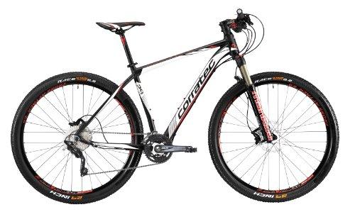 Corratec Herren Fahrrad MTB X Vert 29 01, Mattschwarz/Weiß/Rot, 49, BK17028-0049