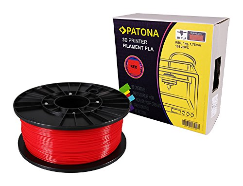 PATONA 3d printer filamento pla Rosso (bobina/1 kg/1,75 mm)