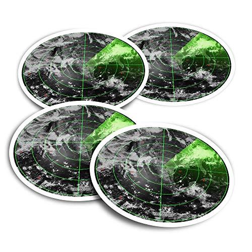Pegatinas de vinilo (juego de 2) 10 cm – Pantalla de tránsito aéreo Radar aviones adhesivos divertidos para ordenadores portátiles, tabletas, equipaje, reserva de chatarra, frigoríficos #16576