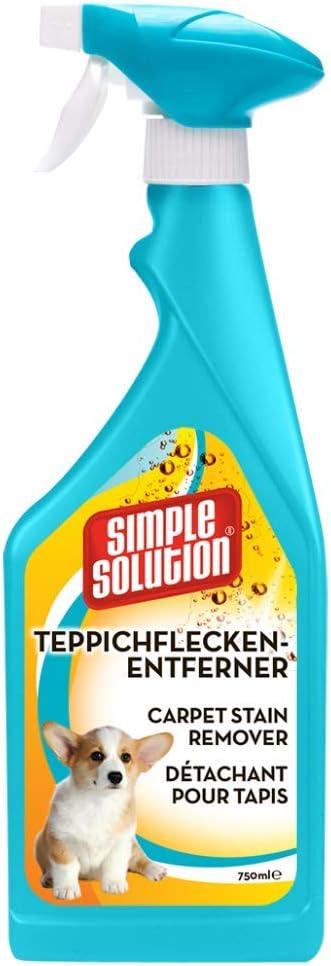 Simple Solution - Spray quitamanchas para alfombras, Color Naranja, oxi, 750 ml