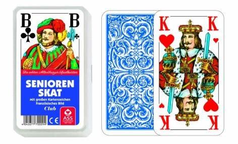 Kartenspiel Senioren Skat Französisches Bild im Kunststoffetui