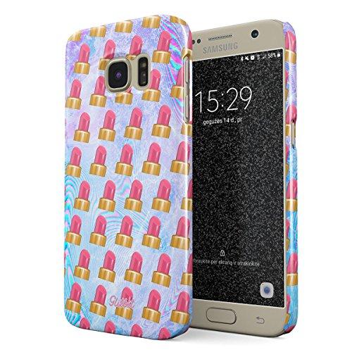 Glitbit Hülle Kompatibel mit Samsung Galaxy S6 Lipsitck Emoji Makeup Pattern Tumblr Makeup Artist...