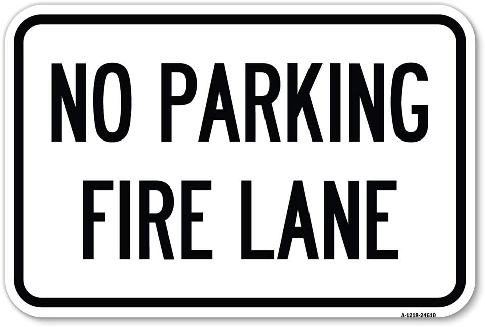 Pavement Stencil Easy-to-use No Parking Fire Lane 18