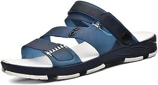 HaiNing Zheng Men's Fashion Snadals Flat Heel Slip on Casual Summer Slipper Shoes (Color : Blue, Size : 8 UK)