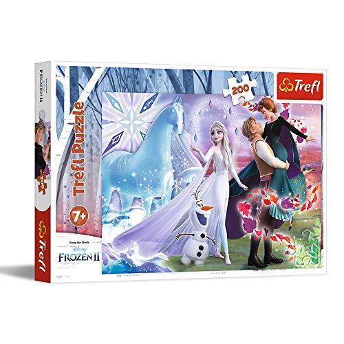 Trefl- Magische Welt Der Schwestern, Disney Frozen 2 200 Teile, für Kinder AB 7 Jahren Puzzle (13265)