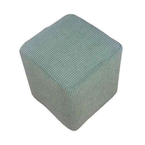 BANGSUN Funda elástica otomana para sofá con reposapiés rectangular, color verde