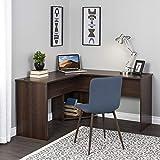 Prepac EEHR-0904-1 L-Shaped Desk, 56