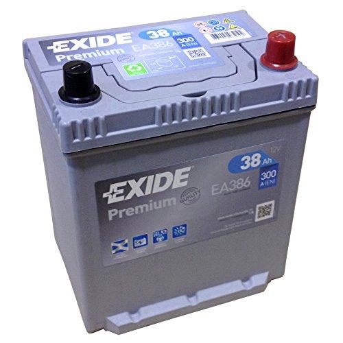 EXIDE PREMIUM EA 386 12V 38AH Starterbatterie Neues Modell 2014/15