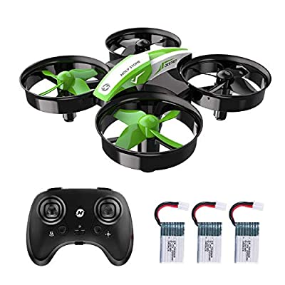 Holy Stone HS210 Kids Mini Drone for Beginners Adults, Indoor Outdoor RC Toy Quadcopter Plane for Boys Girls with Auto Hover, 3D Flip, 3 Batteries & Headless Mode, Great Toddler Gift, Green
