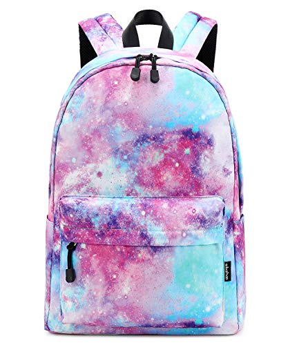 Abshoo Lightweight Water Resistant Galaxy Backpacks For Teen Girls Women School Bookbags (Galaxy Pink)